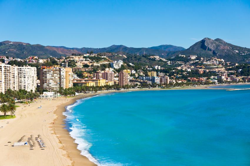 Beautiful view of Malaga city, Spain